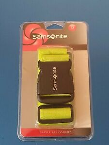 Samsonite Luggage Strap Belt Travel Accessory Neon Kiwi Green ABS Buckle $4.49
