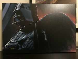 Star Wars - Vader and the Emperor by Rodel Gonzalez - 20 X 30 Giclee Canvas $500.00