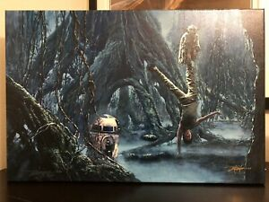 Star Wars - Train You Must by Rodeo Gonzalez - 20 X 30 Giclee Canvas $500.00