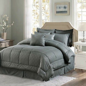10 Piece Comforter Set Complete Bed in a Bag Comforter Bedding Set Cal King