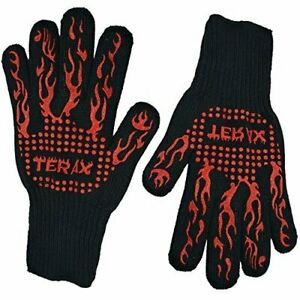 Terax Heat Resistant BBQ Gloves Ideal for Cooking, Baking, and Grilling