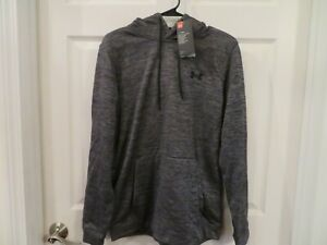 NWT Mens Gray amp; Black Under Armour Cold Gear Hoodie M $33.99