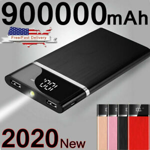 Ultra thin Portable External Battery Huge Capacity Power Bank 900000mAh Charger $14.99