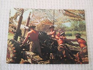 5.5 INCH GUN AND CREW UNDER CAMOUFLAGE NETTING REPRO FROM 1943 POSTCARD