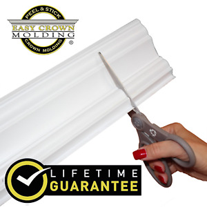 4quot; Peel amp; Stick Easy Crown Molding 52#x27; Kit 12 inside corners. No Tools needed $99.99