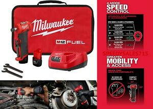 Milwaukee 2485 22 Brushless Cordless 1 4quot; Right Angle Die Grinder Kit New USA $249.99