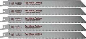 9-Inch Thick Metal Cutting Saw Blades for Reciprocating Sawsall Saws - 5 pack
