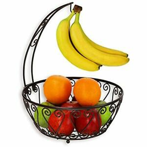 SimpleHouseware Fruit Bowls Basket Banana Tree Hanger Bronze Kitchen amp;amp