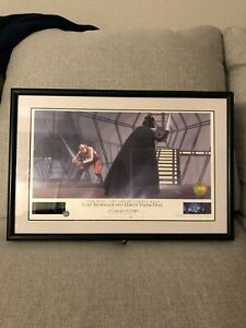 RARE Star Wars Ralph Mcquarrie Signed Lithograph With Original 10mm Film