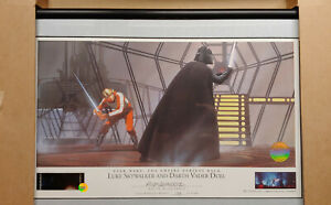 STAR WARS WILLITTS RALPH MCQUARRIE SIGNED LITHOGRAPH LUKE AND DARTH VADER DUEL
