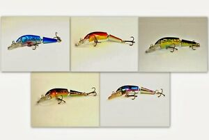 Pack of 5 Akuna Broken Tail 3.9quot; Jointed Diving Bass Trout Fishing Lures