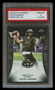 TREVOR LAWRENCE 2018 LEAF ALL AMERICAN #55 1ST GRADED 10 ROOKIE CARD RC CLEMSON