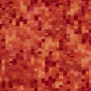 Ombre Square Fabric #27427 T Paprika Quilt Shop Quality Quilting Treasures $8.29