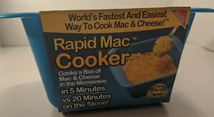 New Rapid Mac Cooker 1 Pack - Microwave Boxed Macaroni and Cheese in 5 Minutes