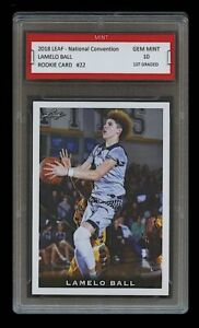 LAMELO BALL 2018 LEAF NATIONAL #22 1ST GRADED 10 ROOKIE CARD RC 2020 DRAFT PICK