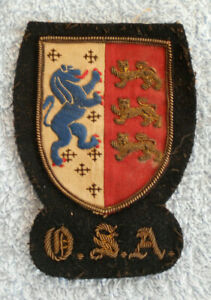 #D601. EARLY UNKNOWN O.S.A. COAT OF ARMS PATCH AU $50.00