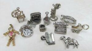 Dealer's Lot of 12 Sterling Silver Miscellaneous Charms ~ 35.6 grams ~ 7-B2680