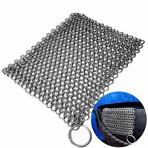 Mythrojan Chainmail Scrubber Stainless Steel Skillet 8