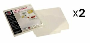 Norpro Clear Micro-Covers Microwave Splatter Guard, 4 Piece Set (Pack of 2)