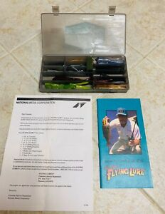 ALEX LANGERS FLYING LURE KIT HOW TO CATCH FISH MANUAL LURES HOOKS STORAGE CASE