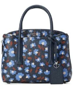 Kate Spade Margaux Party Floral Mini Satchel Crossbody Bag Blazer Blue Multi New