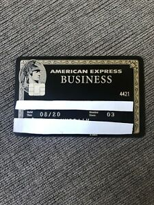 American Express Centurion Black Card Expires 8/20