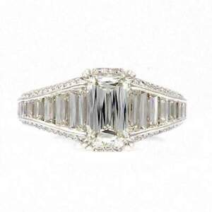 Christopher Designs Crisscut Emerald Diamond Ring