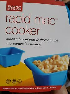 Rapid mac cooker cooks a box of mac & cheese in the microwave in minutes