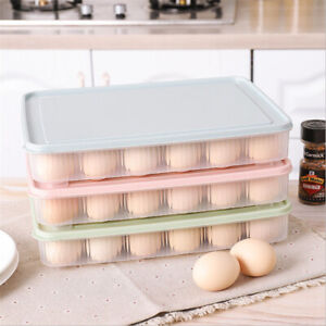 24 Grid Fridge Egg Holder Case Box Organizer Tray Refrigerator Storage Container