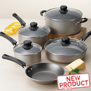 9 Piece Cookware Set Nonstick Pots amp; Pans Home Kitchen Cooking Non Stick NEW $33.35