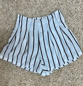 White shorts with black pinstripes size small $7.20