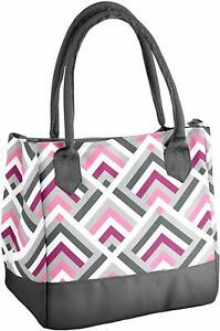 Fit  Fresh Womens Vienna Insulated Lunch Bag with Ice Pack, Signature Cooler Bag