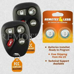 2 For 12223130 50 SRX CTS Cavalier Sunfire Saturn Cadillac Remote Fob Entry $19.95