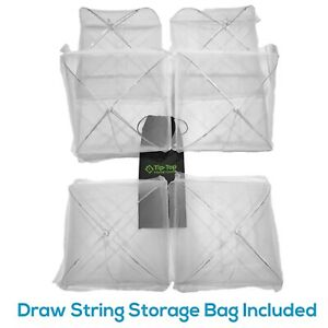 Set of 6 Pop Up Mesh Screen Food Cover Tents White - Keep Out Flies, Bugs