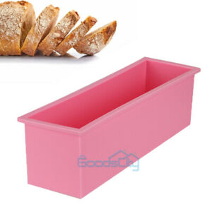 Bread Mold Silicone Rectangle Loaf Pan Cake Nonstick home made Baking