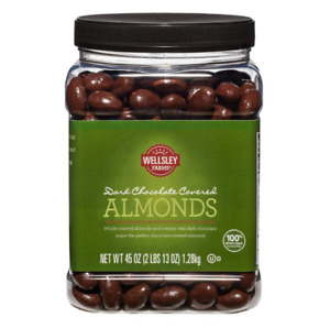 Dark Chocolate Covered Almonds Whole Roasted Gluten - Free 45oz