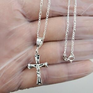 925 Sterling silver Cross Pendant 20quot;necklace women#x27;s