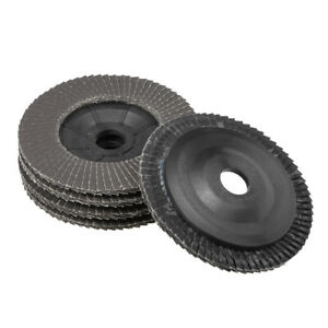 4 Inch Flap Discs 72 Page Grinding Wheels for Angle Grinders 320 Grits 5 Pcs