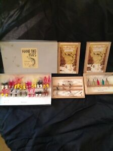 30 + Vintage Fly Rod Wood Poppers and Some Misc. Hand tied Flies
