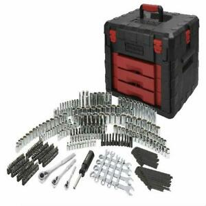 320 Piece Mechanics Tool Set with Storage Case Sockets, Ratchets, Repair Tool