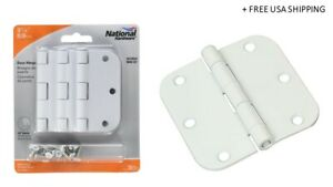 National Hardware 3-1/2 In. L Matte Door Hinge 3 Pk New & Open/Damaged Box