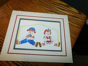 Raggedy Ann amp; Andy Original Pastel Signed Anna Lee $9.99
