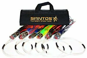 Santos Tournament Grade Tackle Marlin Offshore Big Game Trolling Lure Pack