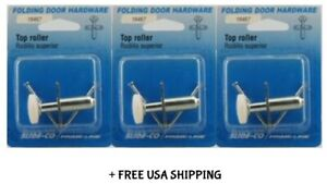(3) Prime-Line Silver Steel Bi-Fold Door Wheel Guide 1 Pk New & Open/Damaged Box