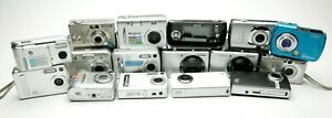Lot Of 16 Small Digital Cameras: Canon HP Samsung Epson. For Parts Or Repair. $49.99