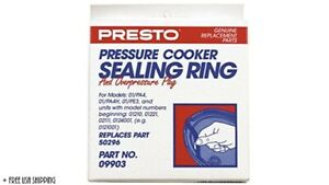 Presto Rubber Pressure Cooker Sealing Ring 09903 - New & Open/Damaged Box