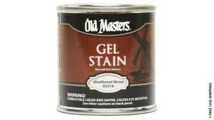 Old Masters 292684 0.5 Pint Weathered Wood Gel Stain New & Open/Damaged Box