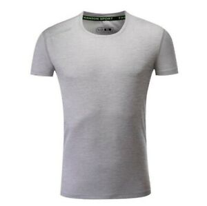 Mens Gym Running T Shirts Sport Quick Dry Stretch Fitness Muscle Dress Tee Tops $27.31