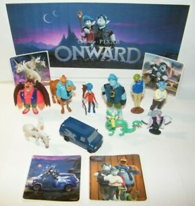 Disney Onward Movie Party Favors 14 Set with 10 Figures and 4 Fun Stickers