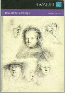 Swann Galleries Auction Catalog Rembrandt Etchings Sale 2101 2007 $9.99